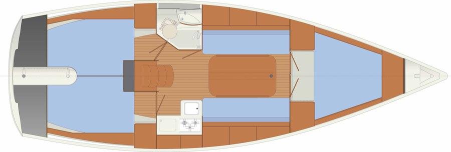 Delphia 33MC Czarter Mazury - propozycja dla żeglarzy ceniących bezpieczeństwo i wygodę
